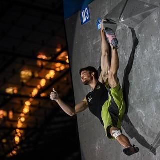 Jan Hojer beim Boulderweltcup München 2017. Foto: DAV/Nils Nöll