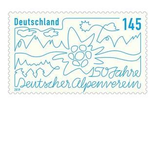 DAV-Jubilaeumsbriefmarke-1x1