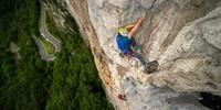 Das Sportkletterkönnen wurde in der steilen, regensicheren Wand von Balme getestet. Foto: DAV / Silvan Metz