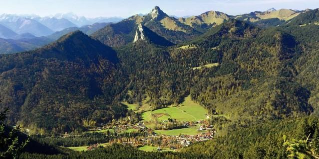 Blick vom Setzberg auf Kreuth