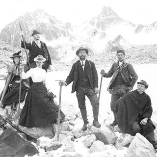 Auf der Hochebene. Aufnahme: Eugen Albrecht, um 1900. Copyright: Archiv DAV