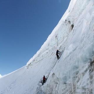 Eisschrauben im Gletschereis - Untersuchung im Pitztal zur Festigkeit von Eisschrauben im Gletschereis