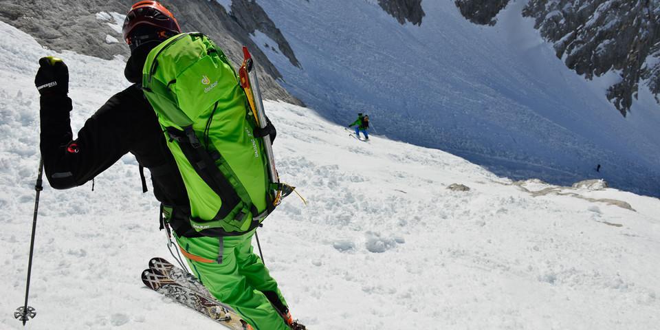 """Die """"Neue Welt"""" an der Zugspitze: eine Top-Abfahrt für starke Freerider… Foto: Thilo Brunner"""