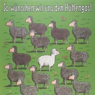 Regeln sind die Grundlage des Hüttenlebens. Plakat um 1980. Archiv des DAV, München
