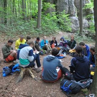 Diskutierende Gruppe: Beteiligung unterwegs. Foto: Lena Behrendes.