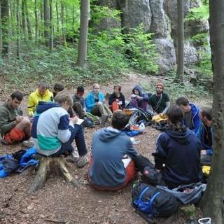 Jugendleiter-Fortbildung im Wald, Foto: JDAV/Lena Behrendes