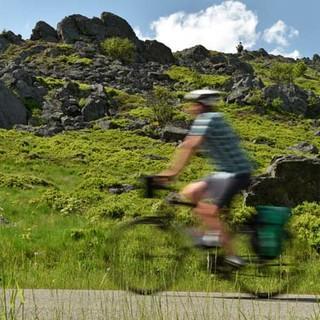 Mit dem Rad durch den Bayerischen Wald - Uralte Gesteine dringen hier und da an die Oberfläche und säumen den Weg. Foto: Thorsten Brönner