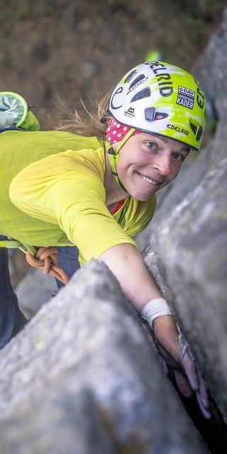 Nein, dieser Gesichtsausdruck steht NICHT symbolisch für diese Kletterdisziplin. Foto: DAV / Silvan Metz