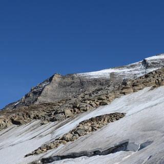Kaindlgrat - Von der Sonne verhöhnt: Vom berühmten Kaindlgrat sind nur noch Reste übrig.