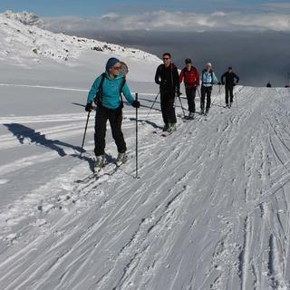 Skitouren-auf-Pisten-Aufstieg