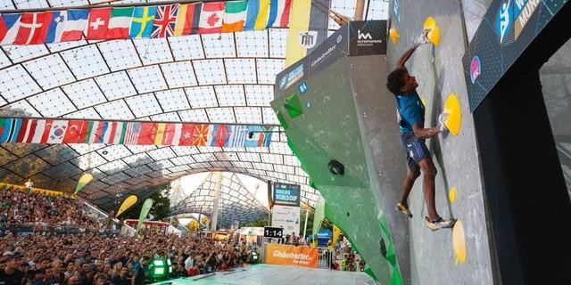 Beim BWC 2016 in München jubelten die Fans die Athleten nach oben. Foto: DAV/Marco Kost