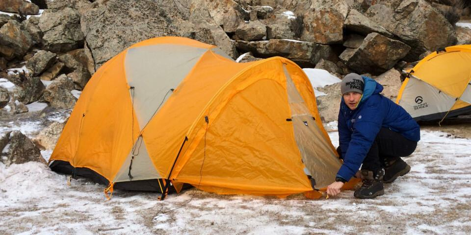David Göttlers Expeditionszelt: The North Face Bastion. Foto: Globetrotter