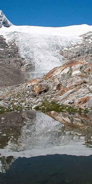 Impressionen aus dem Gletscherschliff am Schlatenkees. Foto: ÖAV/Hannes Schlosser