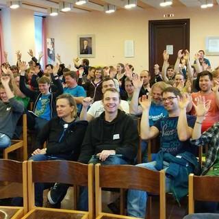 Erwartungsvolle Teilnehmer*innen bei der JuRef-Tagung 2016, Foto: JDAV/Tim Feiter