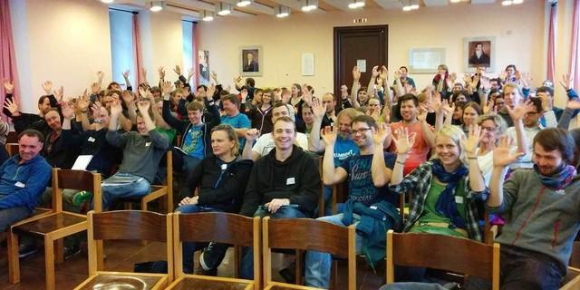 Begeisterte Teilnehmer*innen, Foto: JDAV/ Tim Feiter