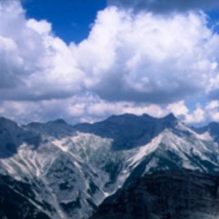 Bergsteiger am Barthgrat, Karwendel, Österreich