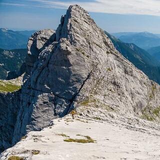 Dachlgrat - Über den Dachlgrat kraxelt man zum Hochtor-Gipfel. Foto: Iris Kürschner