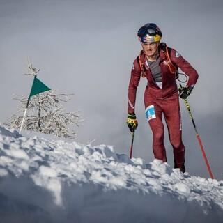 Anton Palzer - mit Schuhbruch nach der ersten Abfahrt - kämpft sich auf Platz 11  Foto: ISMF/Maurizio Torri