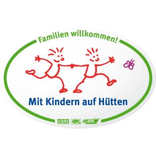 Mit Kindern auf Hütten Kampagnenschild