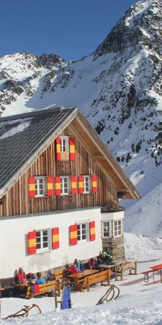 Potsdamer Hütte im Winter, Foto: DAV/T. Güntner
