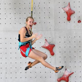 Nuria Brockfeld beim Speed-Wettbewerb. Foto: Newspower.it