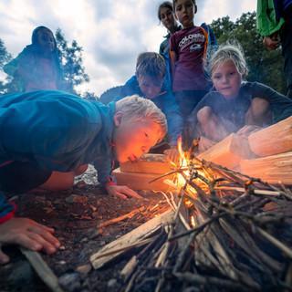 Lagerfeuer der Alpinkids, Foto: JDAV/Silvan Metz