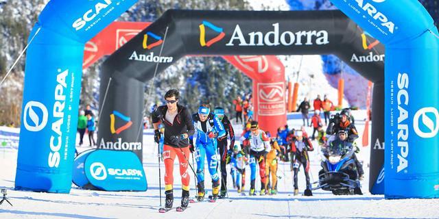 Wettkampf der Skibergsteiger in Andorra startet - hier eine Wettkampfszene von 2016. Foto: DAV/Seebacher