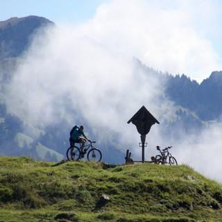Bergsteigerdörfer Schleching & Sachrang: mit dem Mountainbike in den Chiemgauer Alpen. Foto: Chiemgau Tourismus