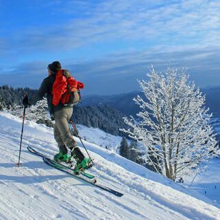 Skitouren sind derzeit eher nur im Pistengelände möglich. Foto DAV/ Michael Pröttel