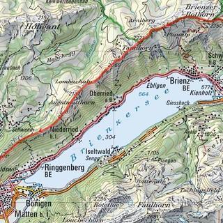 Tour Brienzergrat, Karte: Bundesamt für Landestopografie swisstopo