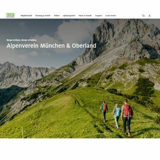 Das neue Design der Homepage der DAV-Sektion München & Oberland. Foto: Alpenverein München & Oberland