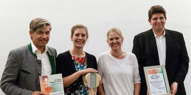 Dr. Antje von Dewitz mit der Projektleitung, Foto:DAV/Marco Kost