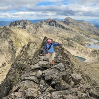 Vom Pic de Peguera (2980 m) blickt man auf das Vall Fosca und den südlichen Teil des Nationalparks, Foto. Annika Müller