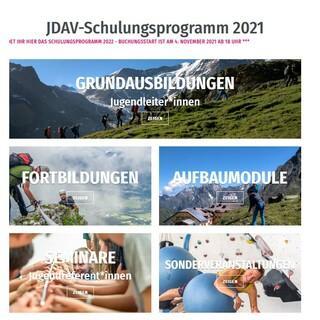 Startseite des neuen Buchungsportals, Foto: JDAV
