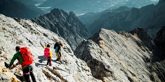 Wegloses alpines Gelände - Typisches Gelände am Jubiläumsgrat.