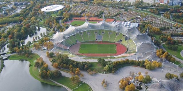 Das Olympiastadion ist das Herzstück des Olympiaparks