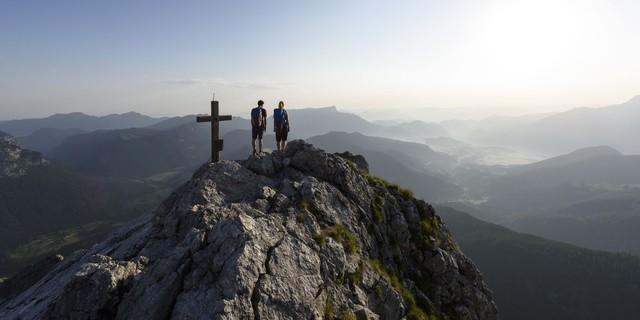 Auf dem Gipfel der Schärtenspitze, Foto: Wolfgang Ehn
