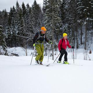 Verena Bentele mit Bergführer Tom Listle&nbsp&#x3B;© DAV/Marco Kost
