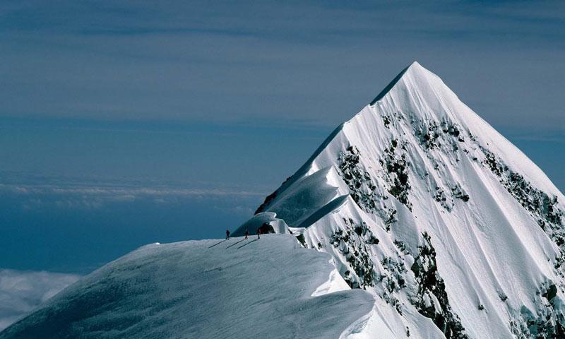 Am Mount Cook (Neuseeland) - Am Mount Cook, dem höchsten Berg Neuseelands   Foto: Jürgen Winkler