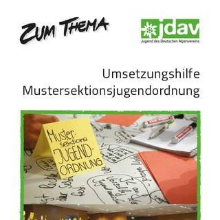 Cover Zum-Thema-Heft Mustersektionsjugendordnung