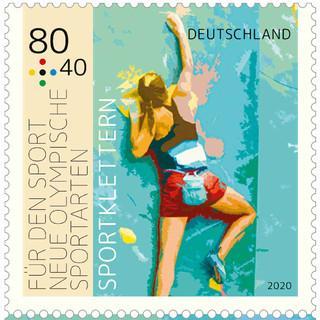 Sportbriefmarke 2020 80 Klettern klein