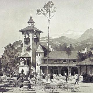 Das Alpenpanorama auf der Berliner Gewerbeschau 1896. Archiv DAV-Sektion Berlin