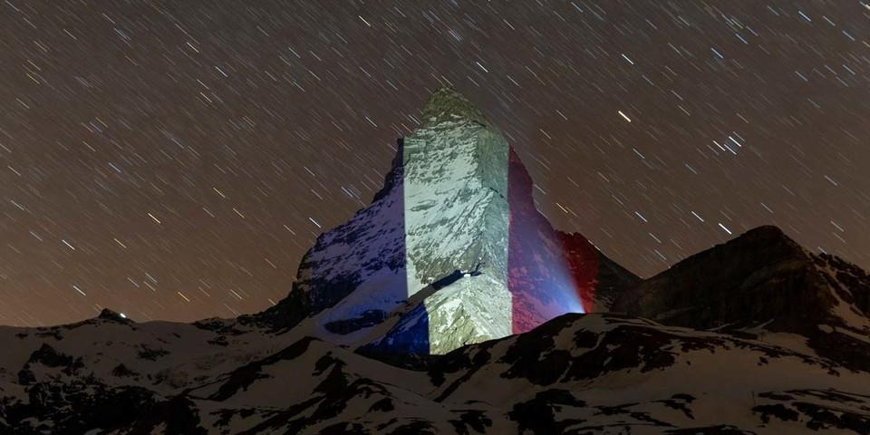 Frankreich, Beleuchtung am 9. April, Light Art: Gerry Hofstetter/Foto: Frank Schwarzbach