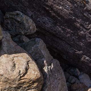 Flotter Endspurt - Die letzten Klettermeter der Englandreise des Chemnitzer Teams: Constanze Müller in einer Felsrinne auf dem Weg zum Sca Fell (964 m)