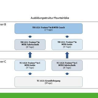 MTB-Ausbildungsstruktur 2022, Abbildung: DAV