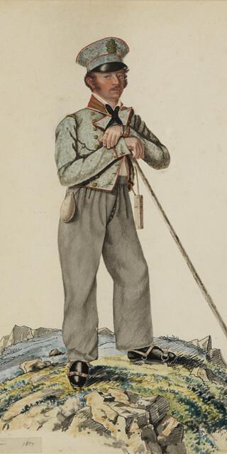 Joseph Naus, Aquarell von 1824. Bild: Archiv ÖAV