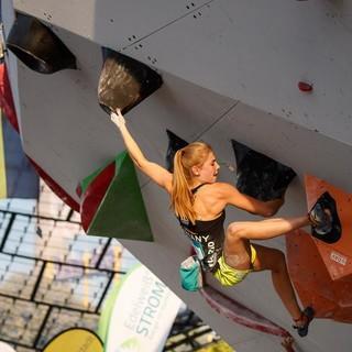 Hannah Meul bei der Qualifikation in München 2018. Foto: DAV/Marco Kost