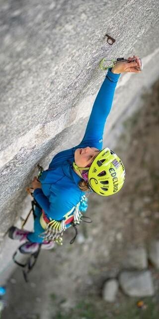 Edelrid rüstet den Kader mit der notwendigen Kletterhartware aus. Foto: DAV / Silvan Metz
