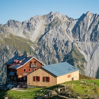 Die Kaltenberghütte in der Verwall-Gruppe, Foto: Jürgen Gassner