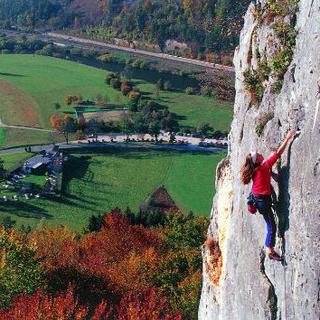 Tina Lauer beim Klettern